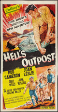 "Movie Posters:Western, Hell's Outpost (Republic, 1954). Three Sheet (41"" X 81""). Western.. ..."