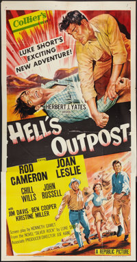 "Hell's Outpost (Republic, 1954). Three Sheet (41"" X 81""). Western"