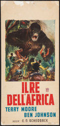 "Movie Posters:Horror, Mighty Joe Young (RKO, R-1960s). Italian Locandina (13"" X 27.5""). Horror.. ..."