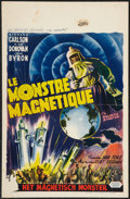 "Movie Posters:Science Fiction, The Magnetic Monster (United Artists, 1954). Belgian (14"" X 21.5""). Science Fiction.. ..."