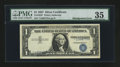 Error Notes:Shifted Third Printing, Fr. 1619* $1 1957 Silver Certificate. PMG Choice Very Fine 35.. ...