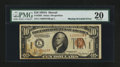 Error Notes:Major Errors, Fr. 2303 $10 1934A Hawaii Federal Reserve Note. PMG Very Fine 20.. ...