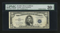 Error Notes:Foldovers, Fr. 1655* $5 1953 Silver Certificate. PMG Very Fine 30 EPQ.. ...