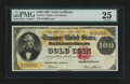 Large Size:Gold Certificates, Fr. 1211 $100 1882 Gold Certificate PMG Very Fine 25.. ...