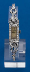 Timepieces:Wristwatch, Swiss, Diamond, Platinum, Wristwatch. ...