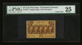 Fractional Currency:First Issue, Fr. 1281 25¢ First Issue Gutter Fold Error PMG Very Fine 25.. ...