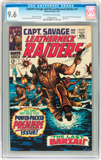 Captain Savage and His Leatherneck Raiders #1 (Marvel, 1968) CGC NM+ 9.6 Off-white to white pages
