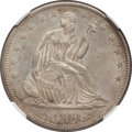 Seated Half Dollars, 1861 50C --Rev Stained--NGC Details. Unc. NGC Census: (5/198). PCGSPopulation (7/204). Mintage: 2,888,400. Numismedia Wsl. ...