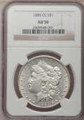 Morgan Dollars: , 1885-CC $1 AU50 NGC. NGC Census: (1/7592). PCGS Population (2/16880). Mintage: 228,000. Numismedia Wsl. Price for problem f...