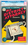 Golden Age (1938-1955):Crime, Mr. District Attorney #3 (DC, 1948) CGC NM- 9.2 White pages....