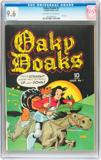 Oaky Doaks #1 (Eastern Color, 1942) CGC NM+ 9.6 Off-white to white pages