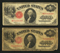 Two Fr. 39 $1 1917 Legal Tender Notes