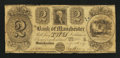 Obsoletes By State:Michigan, Manchester, MI- Bank of Manchester $2 Nov. 20, 1837. ...