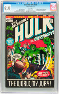 Bronze Age (1970-1979):Superhero, The Incredible Hulk #153 (Marvel, 1972) CGC NM 9.4 White pages....