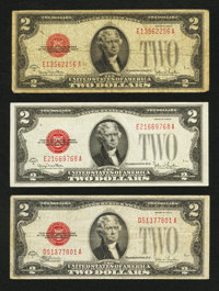 $2 Legal Tender Notes. Three Examples
