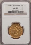 Liberty Eagles, 1854-O $10 Small Date AU55 NGC....