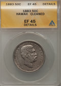 Coins of Hawaii: , 1883 50C Hawaii Half Dollar--Cleaned--ANACS. XF45 Details. NGCCensus: (33/271). PCGS Population (56/380). Mintage: 700,000...