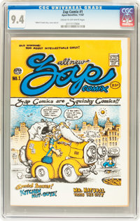 Zap Comix #1 Plymell First Printing (Apex Novelties, 1967) CGC NM 9.4 Cream to off-white pages