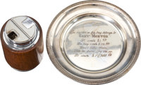 Gary Morton Cigarette Lighter and Tray with Funny Inscription