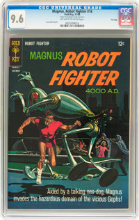 Magnus Robot Fighter #16 File Copy (Gold Key, 1966) CGC NM+ 9.6 Off-white to white pages