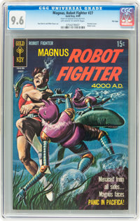 Magnus Robot Fighter #27 File Copy (Gold Key, 1969) CGC NM+ 9.6 Off-white to white pages