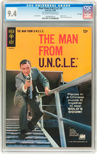 Man from U.N.C.L.E. #2 File Copy (Gold Key, 1965) CGC NM 9.4 Off-white to white pages
