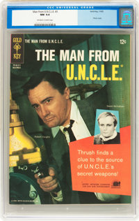 Man from U.N.C.L.E. #3 (Gold Key, 1965) CGC NM 9.4 Off-white to white pages