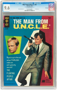 Man from U.N.C.L.E. #8 File Copy (Gold Key, 1966) CGC NM+ 9.6 Off-white pages