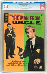 Man from U.N.C.L.E. #12 File Copy (Gold Key, 1967) CGC NM 9.4 Off-white to white pages