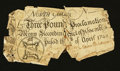 Colonial Notes:North Carolina, North Carolina April 4, 1748 £3 Fine.. ...