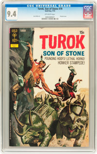Turok, Son of Stone #79 File Copy (Gold Key, 1972) CGC NM 9.4 Off-white pages