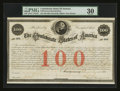 Confederate Notes:Group Lots, Ball 13 Cr. 2A $100 1861 Bond PMG Very Fine 30.. ...