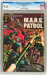 M.A.R.S. Patrol Total War #3 File Copy (Gold Key, 1966) CGC NM+ 9.6 Off-white pages