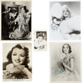 Movie/TV Memorabilia:Autographs and Signed Items, Mary Pickford and Others Golden Age Actress-Signed Photos....(Total: 4 Items)