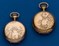 Timepieces:Pocket (post 1900), Two 0 Size, Gold Filled, Hunters Cases. ... (Total: 2 Items)