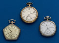 Timepieces:Pocket (post 1900), Three 12 Size, Open Face, Pocket Watches. ... (Total: 3 Items)