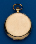 Timepieces:Pocket (post 1900), Swiss, 14 Size, 14 Gold, Hunters Case. ...