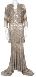 Movie/TV Memorabilia:Costumes, Mae West Beaded Gown Dress from Goin' to Town (1935)....