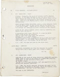Movie/TV Memorabilia:Documents, The Terminator Fourth Draft Script....