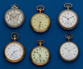 Timepieces:Pocket (post 1900), Six American, 16 Size Pocket Watches. ... (Total: 6 Items)