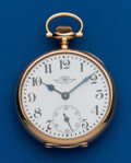 Timepieces:Pocket (post 1900), Ball, 14k Gold, 19 Jewels, Official Standard. ...