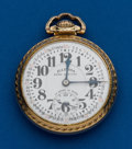 Timepieces:Pocket (post 1900), Illinois, 23 Jewels, 60 Hour, Bunn Special, Marked Dial. ...