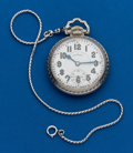 Timepieces:Pocket (post 1900), Illinois, 23 Jewels, Sangamo Special, 16 Size, Motor Barrel. ...