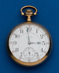 Timepieces:Pocket (post 1900), Elgin, 21 Jewel, Father Time, 16 Size. ...