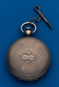 Timepieces:Pocket (pre 1900) , Waltham, Model 57, Coin, Hunters Case, Key Wind. ...