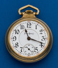 Timepieces:Pocket (post 1900), Illinois, 18 Size, 21 Jewels, Abe Lincoln. ...