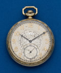Timepieces:Pocket (post 1900), Elgin, 12 Size, Open Face. ...
