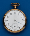Timepieces:Pocket (post 1900), Waltham, 16 Size, Gold Filled. ...