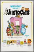 "Movie Posters:Animated, The Aristocats (Buena Vista, R-1980). One Sheet (27"" X 41"").Animated.. ..."