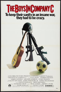 """The Boys in Company C Lot (Columbia, 1978). One Sheets (2) (27"""" X 41"""")Regular and Review Style. War. ... (Tota..."""
